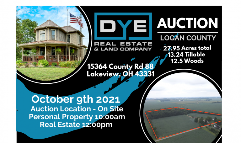 AUCTION – 15364 County Road 88, Lakeview, Ohio, 43331